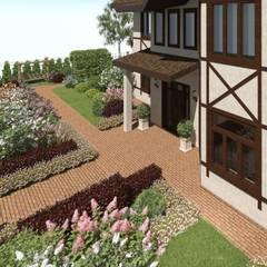 Террасный сад с водопадом.: Сады в . Автор – ООО «Арт Грин Дизайн»