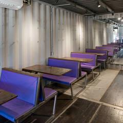 Perpétua Café-Brechó: Espaços comerciais  por Perotto E Fontoura Estúdio de Arquitetura
