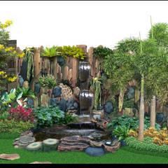 Tukang Tebing Dekorasi dan Kolam : Dinding oleh Tukang Taman Surabaya - Tianggadha-art,