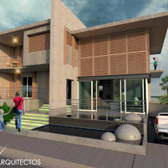 منزل خشبي تنفيذ Eduardo Zamora arquitectos, تبسيطي الخرسانة
