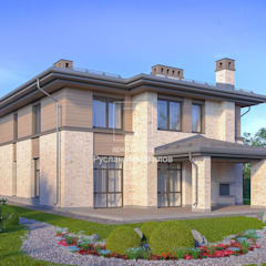 Кирпичный дом: Дома с террасами в . Автор – ArchProject
