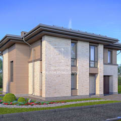 Кирпичный дом: Дома на одну семью в . Автор – ArchProject,