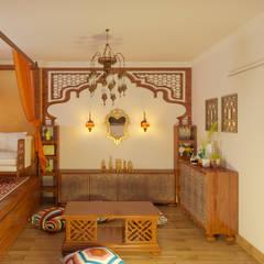 Аромат Марокко: Гостиная в . Автор – Студия дизайна интерьера 'ЭЛЬ ХОСЕ'