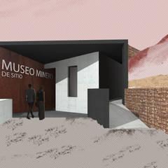 Museo mina San José: Pasillos y hall de entrada de estilo  por Materia prima arquitectos