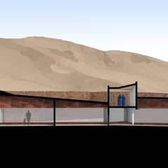 Museo mina San José: Estudios y biblioteca de estilo  por Materia prima arquitectos
