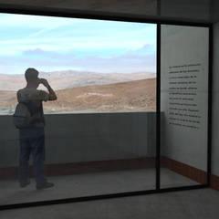 Museo mina San José: Terrazas  de estilo  por Materia prima arquitectos