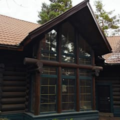 Wooden houses by Ландшафтная Мастерская Ильи Лацис
