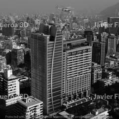 RENDERS EXTERIORES Y AÉREOS DE EDIFICIO EN SANTIAGO DE CHILE: Condominios de estilo  por Javier Figueroa 3D