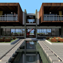 CASA DENIS: Casas campestres de estilo  por JHONATAN NAVARRO ARQUITECTO