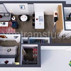Modern Residential Virtual Floor Plan Design Concept by Yantram 3D Architectural Design, Vancouver – Canada:  Balcony by Yantram Architectural Design Studio, Modern