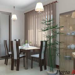 Приватный будинок   в с. Нові Петрівці:  Їдальня by Дизайн студія 'Porta Rossa'