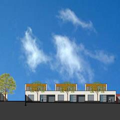 Patiowoningen en appartementen Hennemettenstraat, Gronsveld:  Eengezinswoning door Verheij Architecten BNA