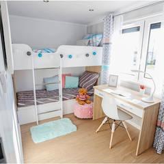 Dom mobilny 12x4m : styl , w kategorii Pokój dziecięcy zaprojektowany przez DMK Budownictwo Dariusz Dziuba Sp. K., Mobilne Domki Letniskowe i Całoroczne