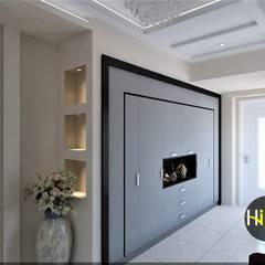 Hiba iç mimarik – Mehmet Bişkenar Evi:  tarz Koridor ve Hol, Modern
