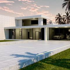 Vivienda exclusiva en hormigón en Madrid: Casas prefabricadas de estilo  de Trenta Casas Prefabricadas de Hormigón en Madrid