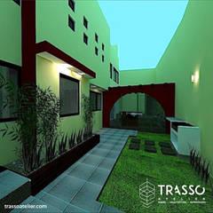 REMODELACION CASA ESTOCOLMO: Jardines de estilo  por TRASSO ATELIER, Rústico