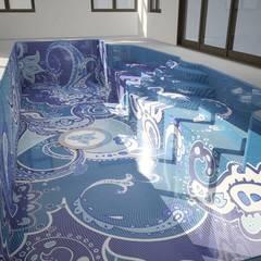 مسبح لانهائي تنفيذ Хамам-мозаика