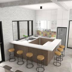 Office Pantry: Kantor & toko oleh PT VISIO GEMILANG ABADI, Modern Kayu Lapis