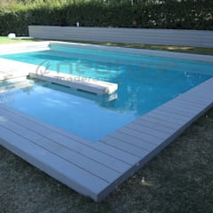 Tarima tecnológica exterior NeoTeck : Casas ecológicas de estilo  de Neoture madera tecnológica