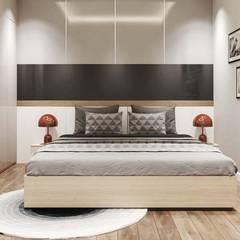 Nội thất Căn hộ hiện đại sang trọng Cityland:  Phòng ngủ nhỏ by CÔNG TY THIẾT KẾ NHÀ ĐẸP SANG TRỌNG