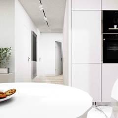 MWM_60m2: styl , w kategorii Małe kuchnie zaprojektowany przez 91m2 Architektura Wnętrz
