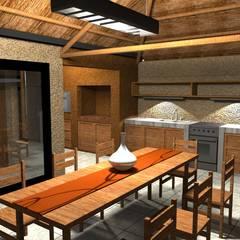 Ruang Makan oleh Arquitecto Emiliano Quintero, Modern