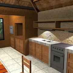 Dapur built in oleh Arquitecto Emiliano Quintero, Modern