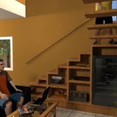 Vivienda LG: Escaleras de estilo  por Arquitecto Emiliano Quintero
