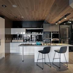 Suelos de estilo  por 台中室內設計-築采設計 , Moderno