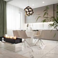 Квартира 3-х комнатная в современном стиле, ул. Дмитриевская: Встроенные кухни в . Автор – Vinterior - дизайн интерьера