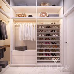 غرفة الملابس تنفيذ Vinterior - дизайн интерьера,