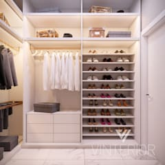 Ruang Ganti oleh Vinterior - дизайн интерьера, Minimalis