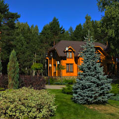 Front yard by Ландшафтная Мастерская Ильи Лацис
