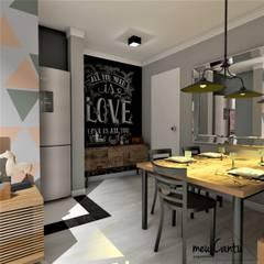 Apartamento 50m² Corredores, halls e escadas industriais por meu Cantu arquitetura Industrial