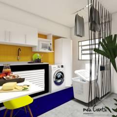 Apartamento 30m²: Cozinhas  por meu Cantu arquitetura