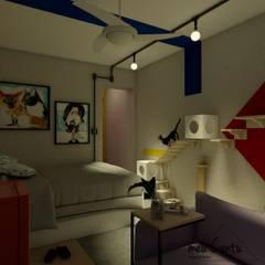 Apartamento 30m²: Quartos  por meu Cantu arquitetura