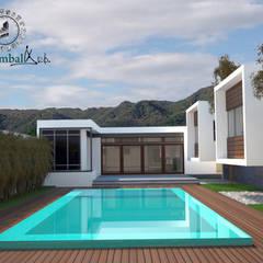 Infinity pool by XÍimbalARQ, Minimalist Concrete