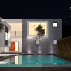 Projekty,  Basen do ogrodu zaprojektowane przez XÍimbalARQ
