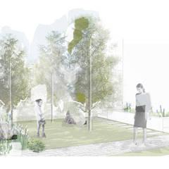 Projekty,  Podwórko zaprojektowane przez Estudio Amani