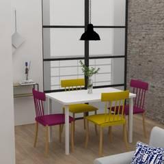 Diseño sala-comedor para apartamento familiar en Pilarica – Medellín.: Comedores de estilo  por Decó ambientes a la medida