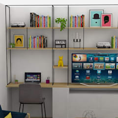 : Estudios y despachos de estilo  por Decó ambientes a la medida, Ecléctico