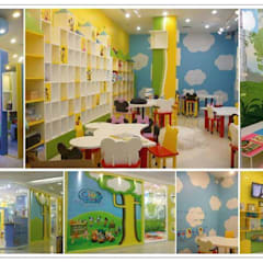 Clay works 3-D Art Learning center:  Boys Bedroom by UpMedio Design