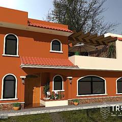 PROYECTO CASA TEZONTLA: Casas de campo de estilo  por TRASSO ATELIER