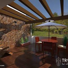 PROYECTO CASA TEZONTLA: Terrazas de estilo  por TRASSO ATELIER