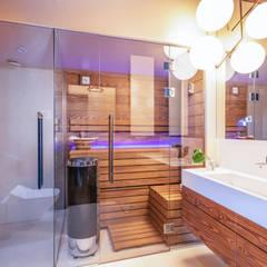 dom w Kołobrzegu: styl , w kategorii Łazienka zaprojektowany przez Studio Projektowe Projektive