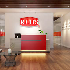 thiết kế văn phòng hiện đại RICH:  Cửa ra vào by công ty thiết kế văn phòng hiện đại CEEB, Hiện đại