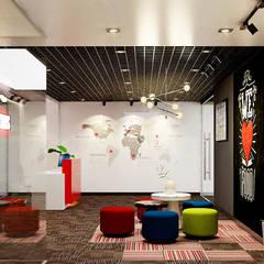 thiết kế văn phòng hiện đại RICH:  Phòng giải trí by công ty thiết kế văn phòng hiện đại CEEB