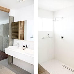 Hyde Park Apartment, JHB:  Bathroom by Metaphor Design, Minimalist Tiles