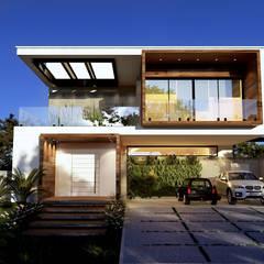 منازل التراس تنفيذ Gelker Ribeiro Arquitetura | Arquiteto Rio de Janeiro , بحر أبيض متوسط خشب Wood effect