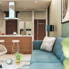 ALEXANDRIA TOWER: Cocinas de estilo  por Constructora Cosenza,